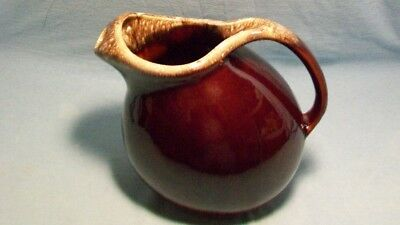 Hull Pottery Brown Drip Ball Pitcher