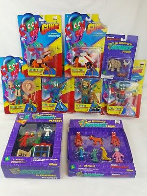 Gumby & Friends (9) Mixed Theme Sealed Packages (18) Figures Total 1995/1996 NIP