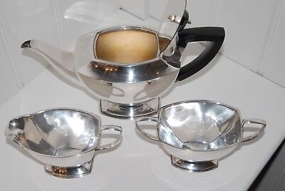 Art Deco Silver Plate Tea Set Ready To Use