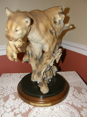 "MILL CREEK STUDIOS Randall Reading ""JOURNEY HOME"" Cougar & Cubs Sculpture FIGURE"