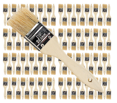 96 Pk- 1 1/2 inch Chip Paint Brushes for Paint, Stains,Varnishes,Glues,Gesso