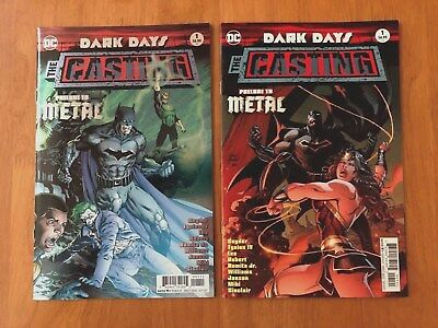 Dark Days The Casting # 1 Main Cover + B Variant 1st Print DC 2017 NM