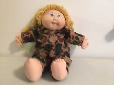 Camouflage Shirt- Pants - Hat For Cabbage Patch Doll
