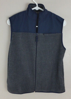 Express Boys Fleece Vest Blue & Gray M 12/14