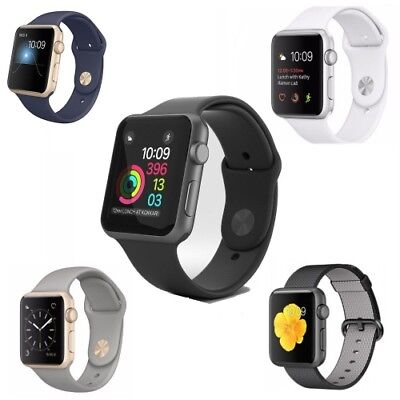 ef2212e3702 Apple Watch Series 1 42mm Smartwatch Aluminum - Stainless Steel Case Sport  Band Gold - Space Gray - Silver - Fast Free Shipping