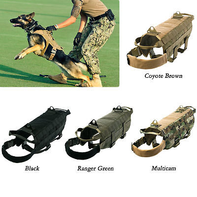 K9 Military Dog MOLLE Harness Police Tactical Vest German Shepherd Clothes S-XL