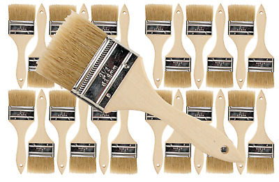 24 Pk- 2.5 inch Chip Paint Brushes for Paint, Stains,Varnishes,Glues,Gesso