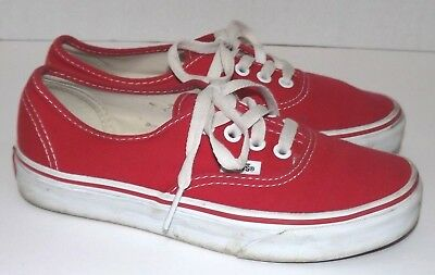 9349dfc9d7fb VANS Off The Wall Shoes Authentic Red Canvas Fashion Casual Skate Sneakers  4.5