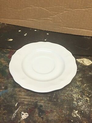 "White Federalist Ironstone China 6"" Saucers 4238 10 Available LOW SHIP"