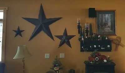 Primitive Vintage Corrugated Roofing Tin Distressed Rusty Metal Barn Star