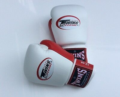 Twins Special Bgvl-3T White/Red 14oz Muay Thai/ Boxing Gloves