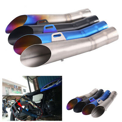 Replacement Universal Motorbike Exhaust Muffler Pipe Tip Rustproof Kit 35mm-51mm