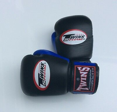 Twins Special Bgvl-3T Blk/Blue 14oz Muay Thai/ Boxing Gloves