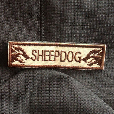 Sheep Dog Sheepdog Tab Tactical Usa Army Morale Hook Patch Desert Embroidered