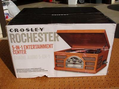 84082485d9af CROSLEY CR66-PA ROCHESTER 5-in-1 ENTERTAINMENT CENTER TURNTABLE CD RADIO +