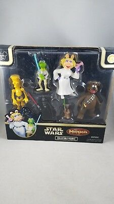 Disney Star Wars The Muppets Collectible Figures Set of 6 brand new sealed