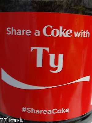 Share a COKE with TY 20 fl oz Collectible Bottle RARE Coca-Cola HTF Name