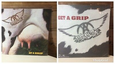 """Aerosmith Get A Grip Cover 2-sided Promo 1993 Picture 12""""x12"""""""
