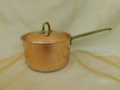 Paul Revere Ware Copper Stainless Steel 2 Quart Pan And Lid Signature Coll 1801
