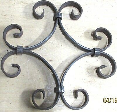 Forged Steel Rosette Metal Working Wrought Iron Wall Hanging fence design