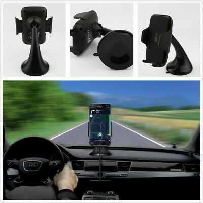 Hands Free Wireless Fast Charger Car Phone Dock Stick to Dashboard or Windshield