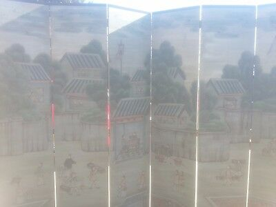 6 panel antique chinese room divider