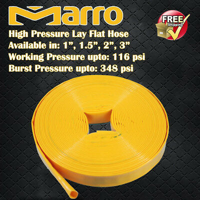 "Marro 30M Premium High Pressure Lay Flat Water Hose in 4 sizes: 1"", 1.5"", 2"", 3"""