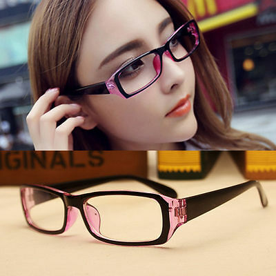 New Eyeglasses Full frames Women Glasses Spectacles RX Eyewear Black+Purple PC