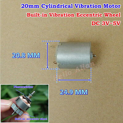 DC3V-5V Strong Vibration Mini 20mm Cylindrical Vibration Vibrating Motor DIY Toy