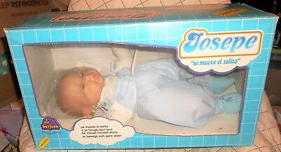 Vintage in Orig. Box berjusa Josepe Baby Doll Battery Operated Moves Like a Real