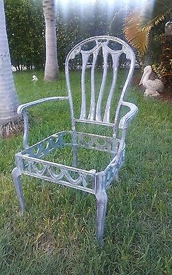 Vintage Victorian Garden single armchair Ornate, Cast Aluminum round back French