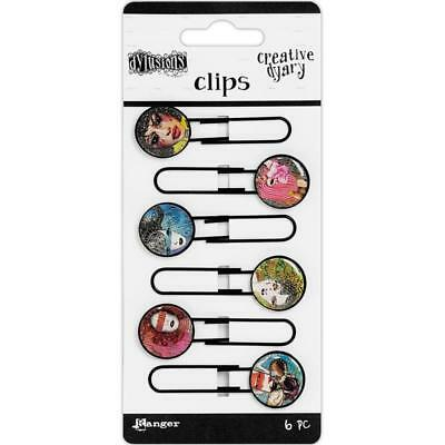 Dylusions Creative Dyary Clips - Faces - 6 Pieces