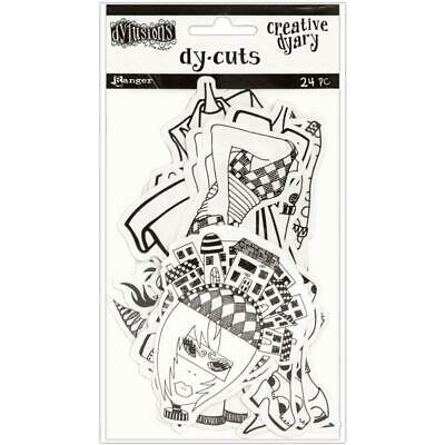 Dylusions Creative Dy-Cuts - Paper Dolls - 24 Die Cut Pieces