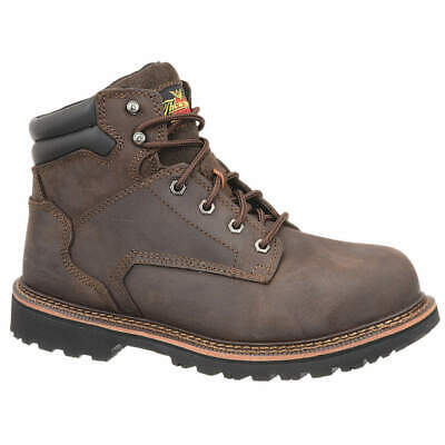 THOROGOOD SHOES Work Boots,8-1/2,W,Brown,Steel Toe,PR, 804-427885W, Brown