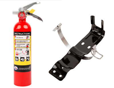 2.5 lb Fire Extinguisher ABC Dry Chemical Rechargeable with Bracket New 2018! UL