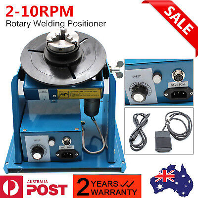 3 Jaw Lathe Chuck 2-10RPM Rotary Welding Weld Positioner Turntable Table Mini