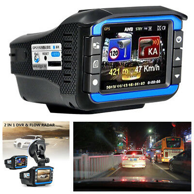 "2""HD Car DVR Camera Video Recorder Radar Laser Speed Track Detector Night Vision"