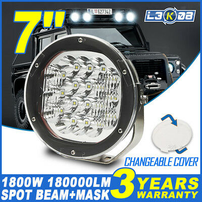 7inch 1800W CREE LED Driving Light Bar Work Spot Lamp Offroad 4x4WD Round VS HID