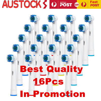 16pcs Oral B Braun Compatible Electric Toothbrush Replacement Brush Heads