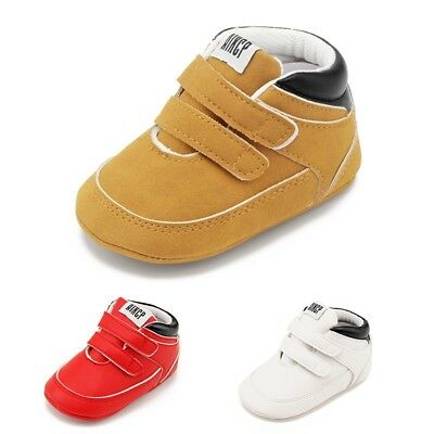 Toddler Baby Boys Girls Soft Sole Prewalkers Sneakers Shoes Boots Booties 0-18M