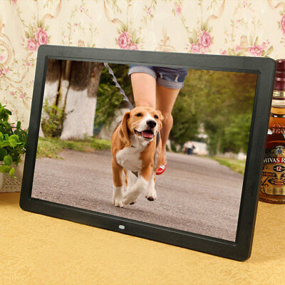 "17""in HD 1080P LED Digital Photo Picture Frame Movie Player Remote Control"