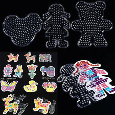 10X Pegboard Peg Board for Perler Hama Fuse Iron Melty Bead Elephant Butterfly