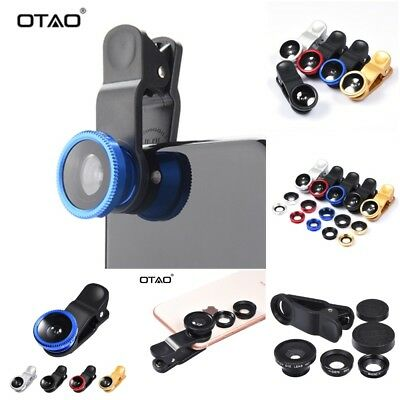Original 3-in-1 Wide Angle Macro Fisheye Lens Kit with Clip 0.67x Mobile Phone