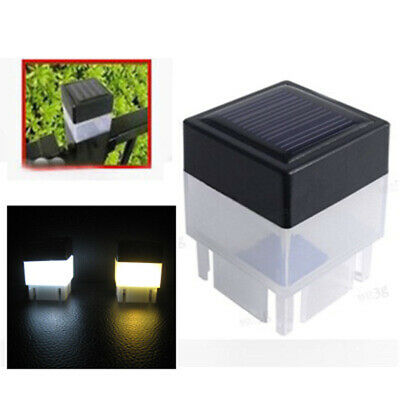 Outdoor Solar Powered Fence Post Pool LED Square Lights Garden Waterproof Decor