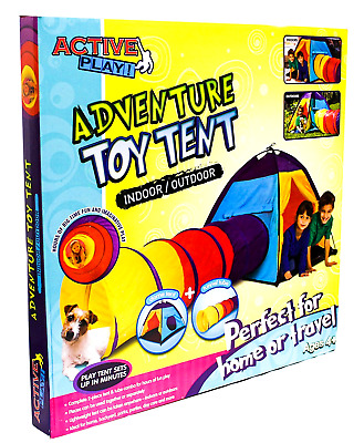 Activeplay! Adventure Dome and Tunnel Play Tent & Tube for Kids Indoor Outdoor