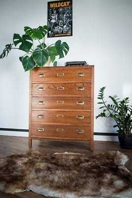Vintage Industrial Retro Old school Style Chest Of Drawers/Tallboy