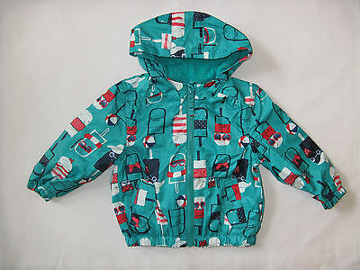BNWT NEXT Girls Green Lolly Rain Coat Mac Cagoule With Hood 12-18 Mon 2-3-4-5 Y