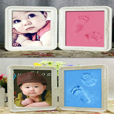 1set Creative Newborns Baby First Hand and Foot Print Photo Frame Best Baby-Gift