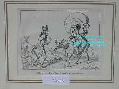 74983-Russland-Russia-Esel-Donkey-Paysan Ruse-T Holzstich-Wood engraving