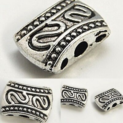 Bali Sterling Silver Plated Double Triple Link Spacer Bead 10.5mm NON TARNISH